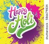 happy holi greeting spring