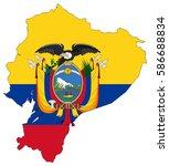 flag map of ecuador   Shutterstock .eps vector #586688834