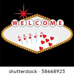 welcome to las vegas sign with... | Shutterstock .eps vector #58668925