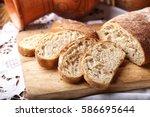 freshly baked ciabatta bread on ...   Shutterstock . vector #586695644