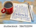 win win strategy word cloud  ... | Shutterstock . vector #586702094