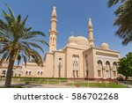 jumeirah mosque in dubai ... | Shutterstock . vector #586702268