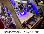 laser engraver working and... | Shutterstock . vector #586702784
