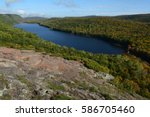 Lake of the Clouds at Porcupine Mountains Wilderness State Park in Michigan