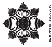 the black white round floral... | Shutterstock . vector #586710350