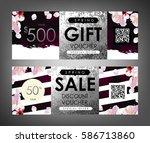 gift certificate  voucher ... | Shutterstock .eps vector #586713860