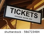 Railroad Train Ticket Booth Sign