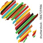 Africa Map Silhouette Icon...