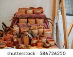 Spices In Clay Pots On The...