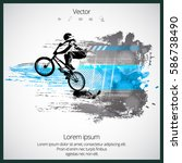 silhouette of bicycle jumper | Shutterstock .eps vector #586738490