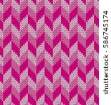 knitted abstract pink ... | Shutterstock .eps vector #586745174