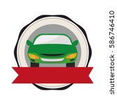 rent a car service icon | Shutterstock .eps vector #586746410