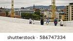 oslo  norway   august 28 ... | Shutterstock . vector #586747334
