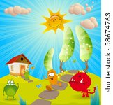 children's background for the... | Shutterstock .eps vector #58674763