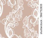 Seamless Pattern White Lace...