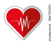 cardiology pulse isolated icon | Shutterstock .eps vector #586754354