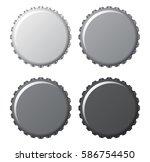 bottle caps in grey and black... | Shutterstock .eps vector #586754450