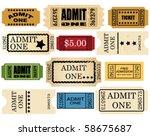 admit ticket one set | Shutterstock .eps vector #58675687