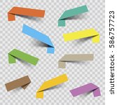 vector sticker banners | Shutterstock .eps vector #586757723