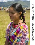 guatemala  quetzaltenango  ... | Shutterstock . vector #586763780