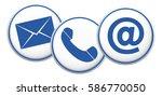 contact us symbol button   Shutterstock . vector #586770050