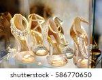 elegant bridal or ballroom...   Shutterstock . vector #586770650