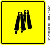 jumper cables crocodile clips... | Shutterstock .eps vector #586774304