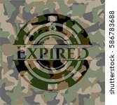 expired on camouflaged texture | Shutterstock .eps vector #586783688