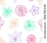 floral pattern. ideal... | Shutterstock .eps vector #586785140