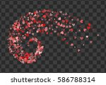 decoration of red hearts... | Shutterstock .eps vector #586788314