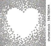 silver frame of scatter... | Shutterstock .eps vector #586788344