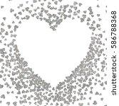 silver frame of scatter... | Shutterstock .eps vector #586788368