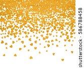 gold pattern of random falling... | Shutterstock .eps vector #586788458