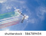 acrobatic air performance of... | Shutterstock . vector #586789454
