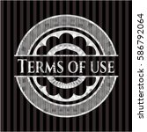 terms of use silver shiny badge