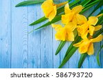 beautiful floral corner with... | Shutterstock . vector #586793720