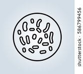 bacteria icon | Shutterstock .eps vector #586799456