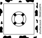 lifebuoy  vector icon.   Shutterstock .eps vector #586816694