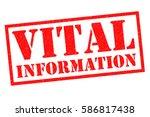 vital information red rubber... | Shutterstock . vector #586817438