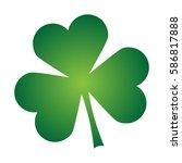 shamrock clover irish single... | Shutterstock .eps vector #586817888