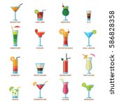 set of different alcohol drink... | Shutterstock .eps vector #586828358
