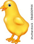 cute little chicken isolated on ... | Shutterstock .eps vector #586830944
