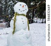 snowman | Shutterstock . vector #586832669