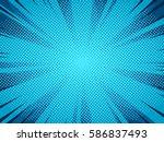 halftone comic book superhero... | Shutterstock .eps vector #586837493
