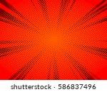 halftone texture comic book...   Shutterstock .eps vector #586837496