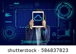 cloud storage network server... | Shutterstock . vector #586837823