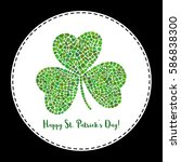 st. patrick's day greeting... | Shutterstock .eps vector #586838300