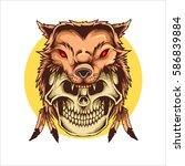 vector illustration of native...   Shutterstock .eps vector #586839884