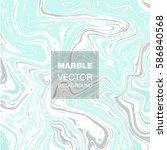vector ink marble texture... | Shutterstock .eps vector #586840568