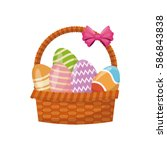 Basket Egg Easter Celebration